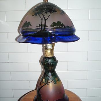 Josef Riedel scenic cameo lamps