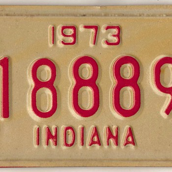 1973 - Motorcycle License Plate (Indiana)