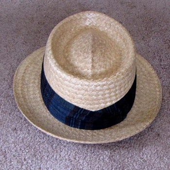 Vintage Dunlap Hat Straw Fedora