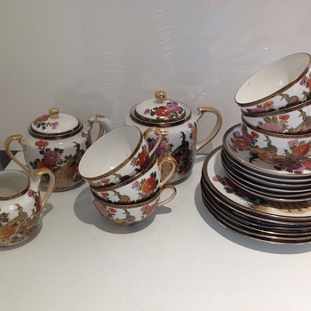 Chinese?Japanese?Oriental, satsuma tea set?