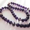 Vintage Amethyst pendant 9cr and modern Amethyst bead necklace