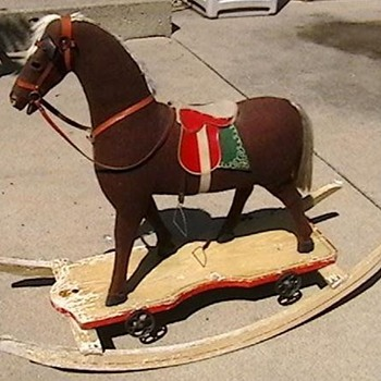 1920's-1930's German Rocking Horse/Pull Toy - Animals