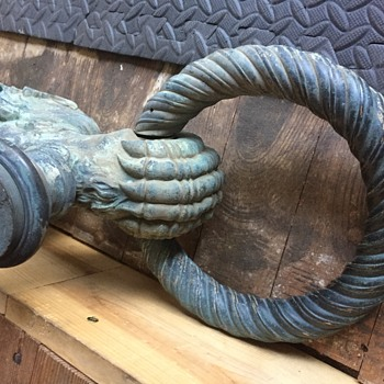 Cast Bronze Ornamental Exterior Light Fixture - Renaissance Revival?