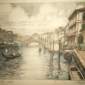 Repost Venice etching Copper? Who can read Italian? - Posters and Prints
