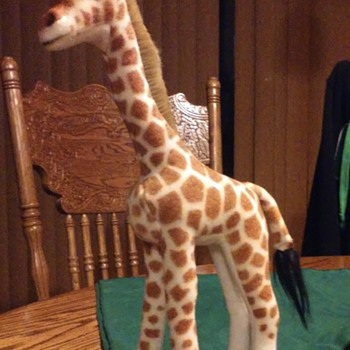 Steiff stuffed giraffe.  - Animals