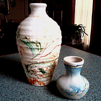 """Nemadji"" Pottery Vases / Circa 20th Century - Art Pottery"