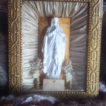 Virgin Mary in box frame