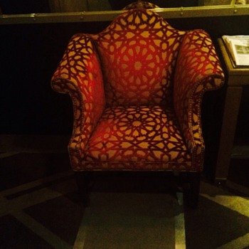 Tuxedo chair; NYC hotel lobby chair. I'd like to find a pair like this for my home. Any ideas on manufacturer? Pls help.  - Furniture