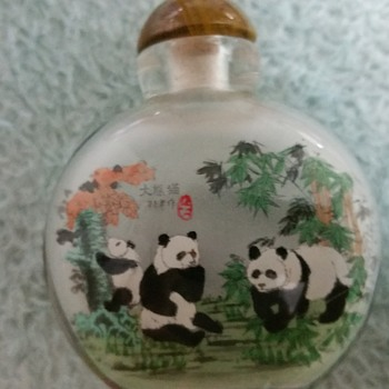 Snuff bottle with painting inside - Asian