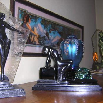 Maxfield Parish, Art Deco, and Fenton Glass