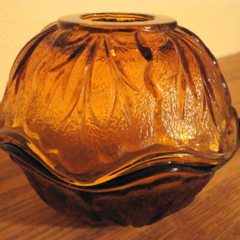 Amber Glass 2 piece, Pretty.  I don't know what it's called? Anyone know! I love it for decoration!