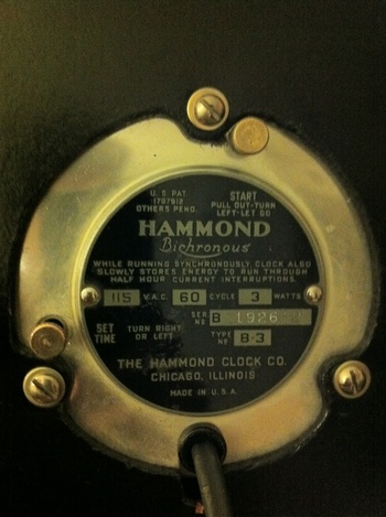 Hammond Bichronous Postal Telegraph Clock Collectors