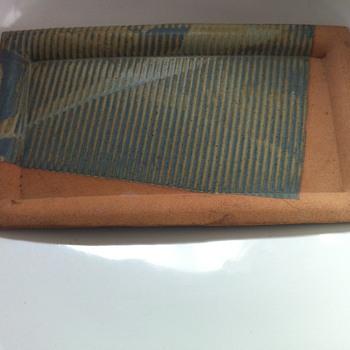 Pottery tray by Patricia O' Brien - Art Pottery