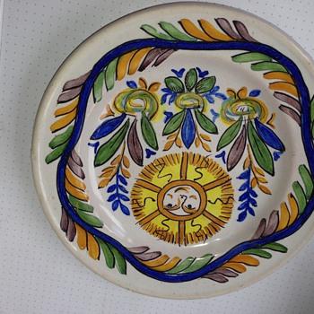 Italian Delft Plate GM - Art Pottery