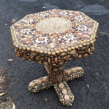 Shell Encrusted Side Table