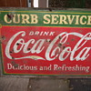 Coca-Cola Sign 1933 Curb Service Double Sided 5 feet by 42 inches