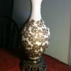 Vintage velvet appliqued lamp
