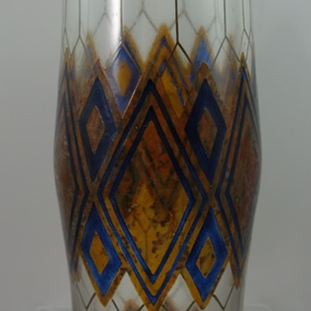 Haida glass vase, possibly Carl Goldberg, ca. 1930