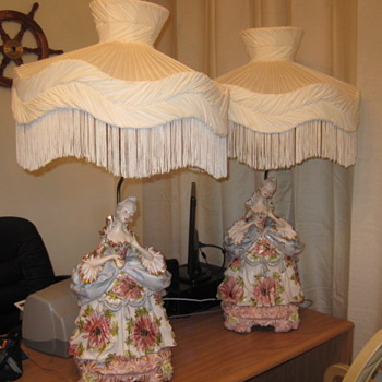 Porcelain Lady Victorian lamps