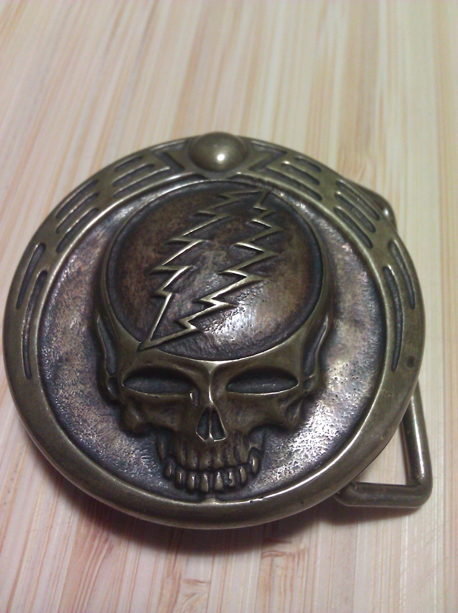 Owsley Stanley Signed #3 Grateful Dead Skull Belt Buckle  Collectors Weekly