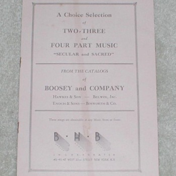 1925 Glee Club Music Catalog - Paper
