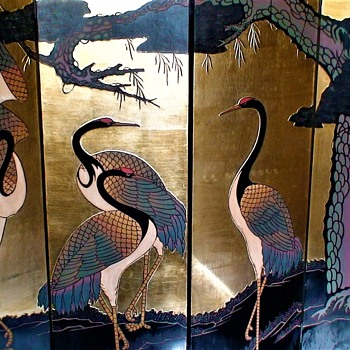 Vintage Asian Coromandel Screen - Furniture