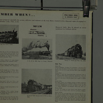 BACK SIDE OF TRAIN ALBUMS - Railroadiana