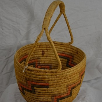 Native Egg Basket with Handle handmade