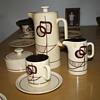 Who Made This Unusual Mid Century Danish Mod Eames Era Coffee Cream Sugar