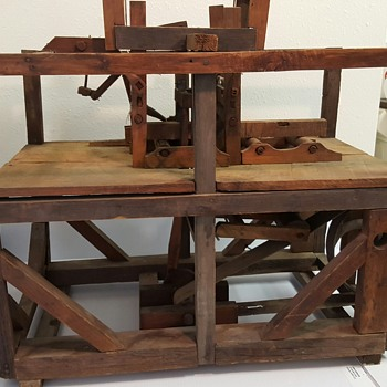 Working model of sash saw mill