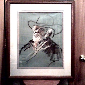 "Another Russell A. Swanson !! Pastel on Paper 16"" x 20""/ Titled ""The Ole' Sage""/ Unknown Date"