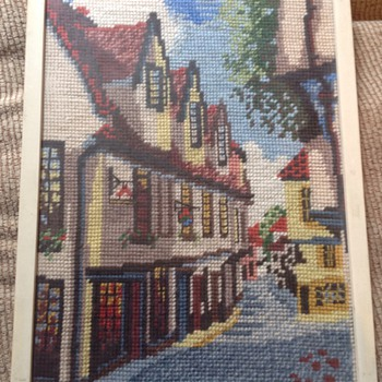 Needlepoint picture. - Rugs and Textiles