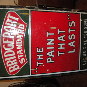 Brigdeport Standard Paint Sign