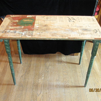 My grandmother's antique folding table - Furniture