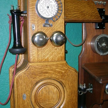 The Early Dial Wall &amp; Candlestick Telephones  - Telephones