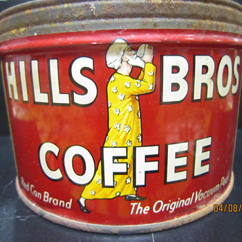 1952 Hills Bros Coffee Tin - Advertising