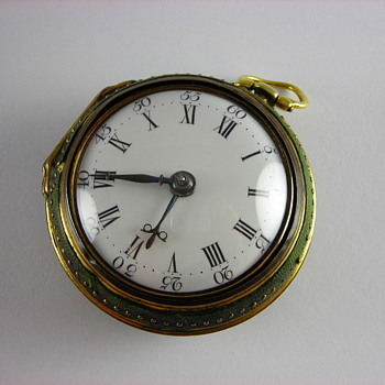 1767 English Verge Fusee with Shagreen Case