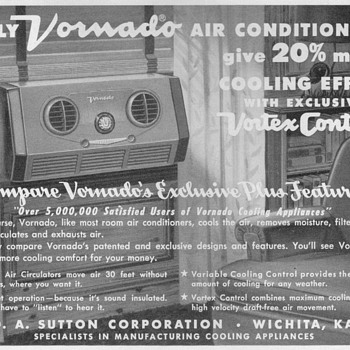 1953 - Vornado Air Conditioner Advertisement - Advertising