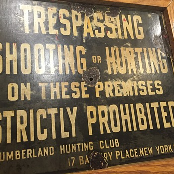 Lumber land hunting club NYC SIGN