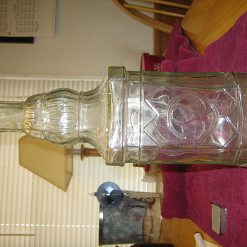 glass bottle, possibly antique - Bottles