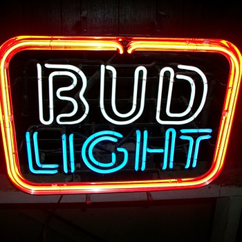 Just got this never used  and like brand new 1987 Bud Light neon bar sign. - Signs