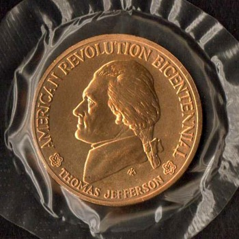 1976 - Bicentennial Medal (Thomas Jefferson)