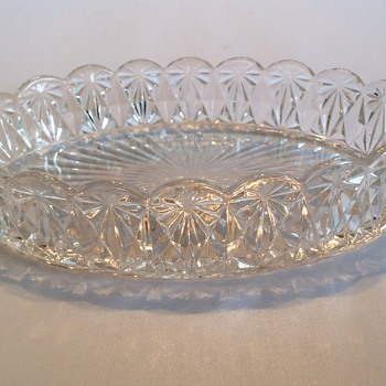 Antique glass dish - Glassware