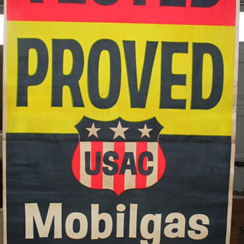 mobilgas usac sign   - Petroliana