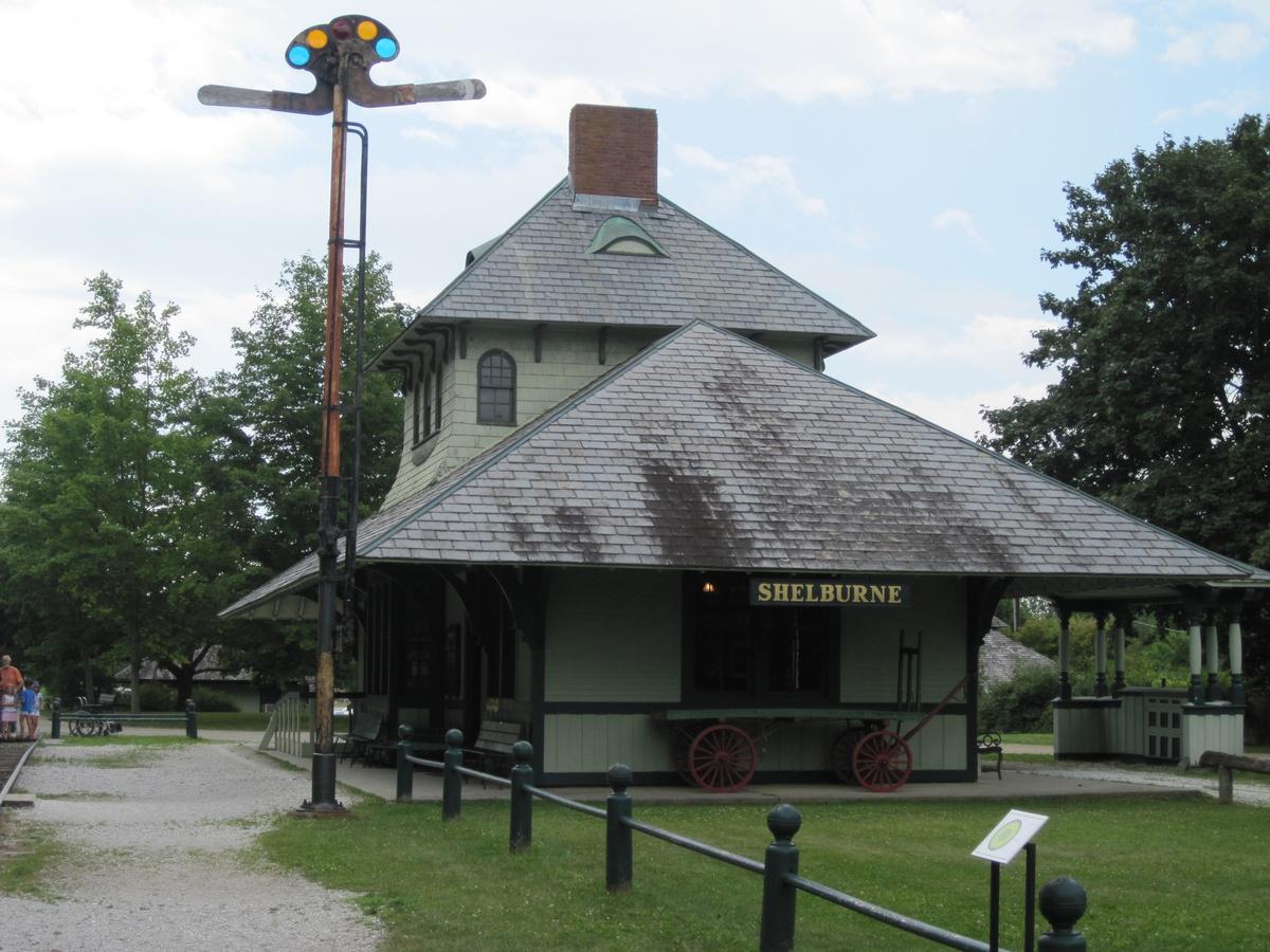 Shelburne Depot Circa 1890s At The Amazing Shelburne