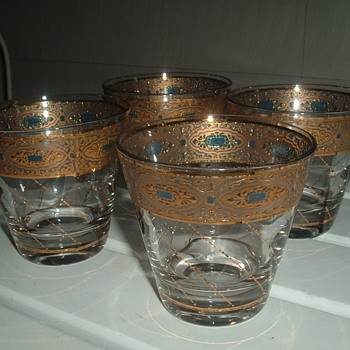 Nice set of vintage Culver Glass Old Fashioned Glasses - Glassware
