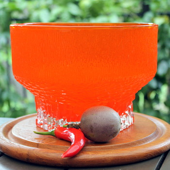 Orangeade glass - Art Glass