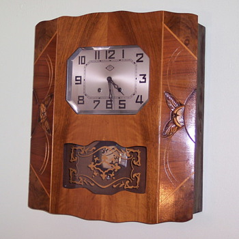 Epitome of Art Deco, French F B L Wall Clock, 1925-30 - Art Deco