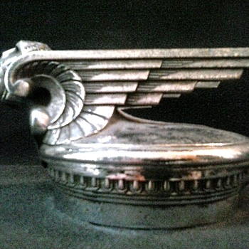 "Chevrolet ""Winged Viking"" Radiator Cap Complete With Hinged Base /Stant Mfg. Design By William Schnell-Detroit/ Circa 1929-1931"