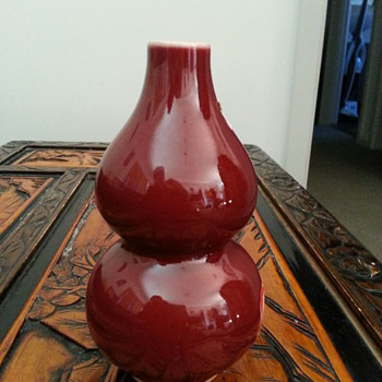 CHINESE  MING QING DYNASTY GOURD SHAPE WINE BOTTLE